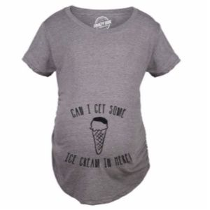 Can I Get Some Ice Cream Maternity T-shirt Small